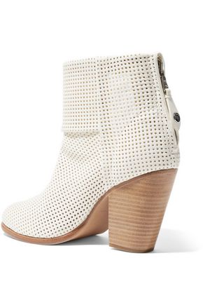 RAG & BONE Classic Newbury perforated leather ankle boots