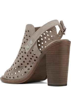 RAG & BONE Wyatt perforated suede sandals