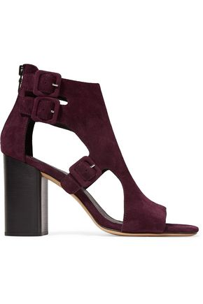 RAG & BONE Genoa cutout buckled suede sandals