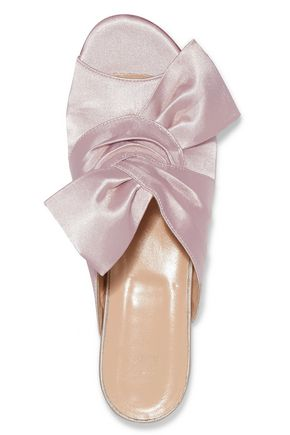 IRIS AND INK Rosa bow-embellished satin sandals