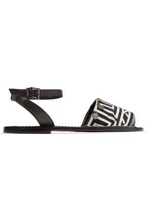 SCHUTZ Robinn embellished printed woven sandals