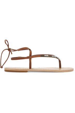 SCHUTZ Lawlen embellished nubuck sandals