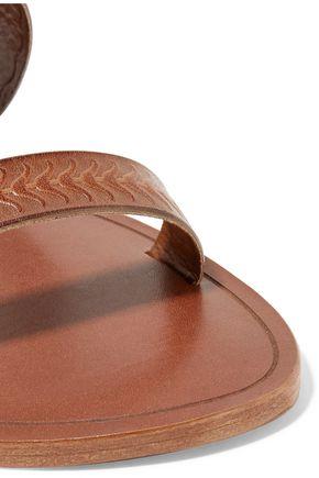 SCHUTZ Concetta embossed leather slides