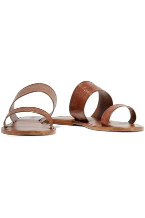 SCHUTZ Concetta embossed leather slides