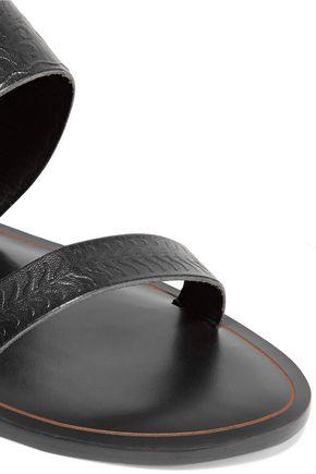 SCHUTZ Concetta embroidered leather slides