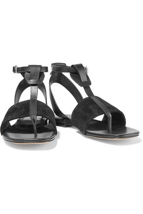 RAG & BONE Bonnie suede and leather sandals
