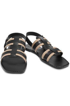 TOMAS MAIER Canvas and leather sandals