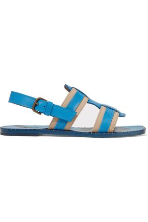 TOMAS MAIER Leather and canvas sandals