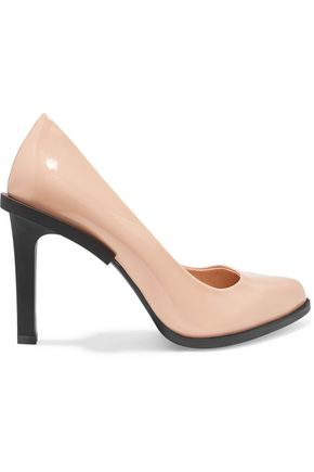 DKNY Glossed-leather pumps