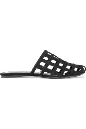 ALEXANDER WANG Alison cutout suede slippers