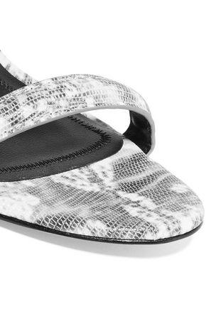 ALEXANDER WANG Antonia lizard-effect leather sandals