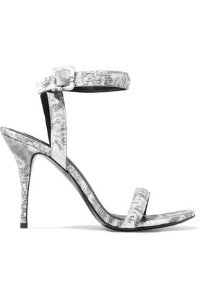 ALEXANDER WANG Antonia lizard-effect leather sandals