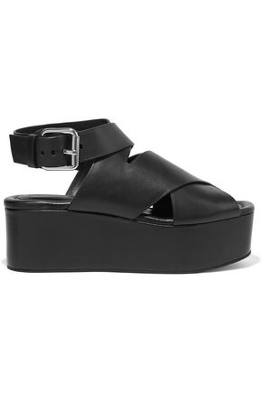 ALEXANDER WANG Rudy leather wedge sandals
