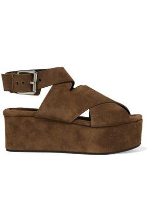 ALEXANDER WANG Rudy suede platform sandals