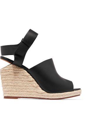ALEXANDER WANG Tori leather wedge sandals