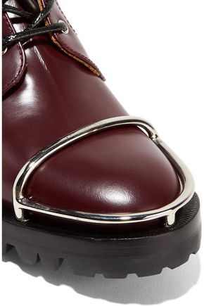 ALEXANDER WANG Lyndon embellished glossed-leather ankle boots