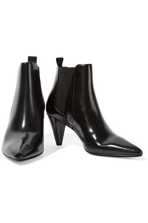 ALEXANDER WANG Vanessa glossed-leather ankle boots