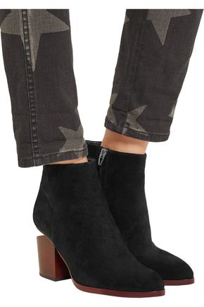 ALEXANDER WANG Gabi cutout suede ankle boots