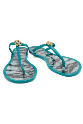 ROBERTO CAVALLI Embellished rubber sandals