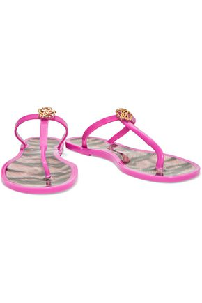 ROBERTO CAVALLI Embellished rubber sandals