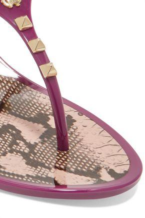 ROBERTO CAVALLI Studded rubber sandals