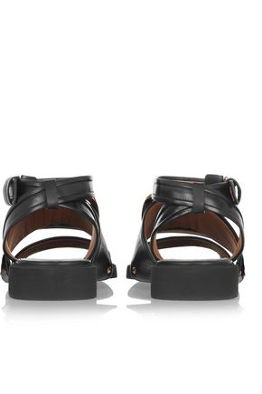 GIVENCHY Buckle-embellished leather sandals