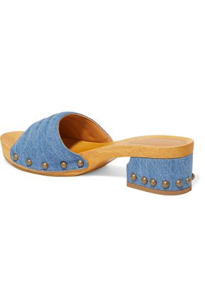SIGERSON MORRISON Abel studded denim sandals