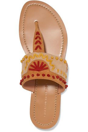 SIGERSON MORRISON Aliyah embroidered suede sandals