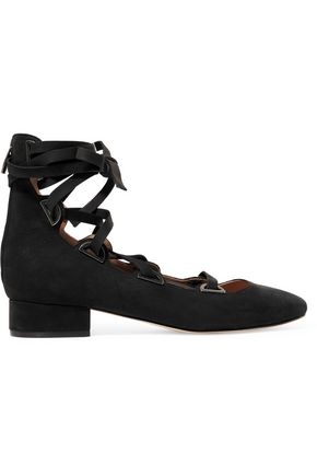 SIGERSON MORRISON Hea  lace-up nubuck pumps
