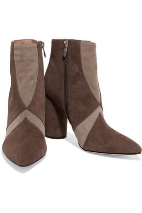 SIGERSON MORRISON Knox paneled suede ankle boots