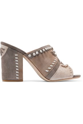 SIGERSON MORRISON Philip whipstitched suede sandals