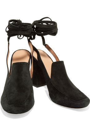 SIGERSON MORRISON Posie lace-up suede pumps