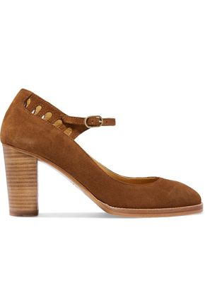 A.P.C. Cutout suede pumps