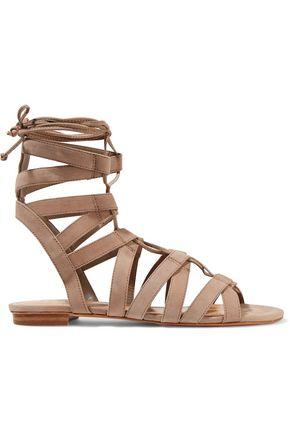 SCHUTZ Berlina lace-up nubuck sandals
