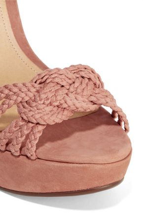 SCHUTZ Macarena braided suede wedge sandals