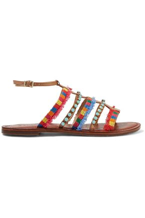 SCHUTZ Kelina embroidered embellished sandals