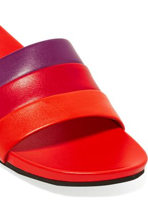 OPENING CEREMONY Kaatya striped leather slides