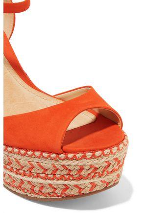 SCHUTZ Veridiane nubuck wedge sandals