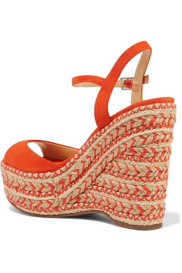 Veridiane nubuck wedge sandals | SCHUTZ | Sale up to 70% off | THE OUTNET