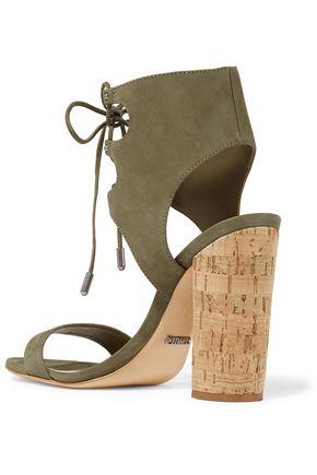SCHUTZ Cruz lace-up nubuck sandals