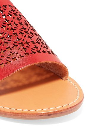 SOLUDOS Laser-cut leather sandals