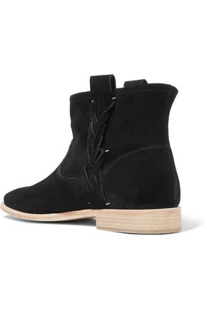 SOLUDOS Braided suede ankle boots