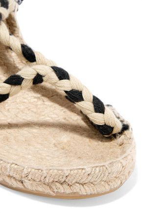 SOLUDOS Braided espadrille wedge sandals