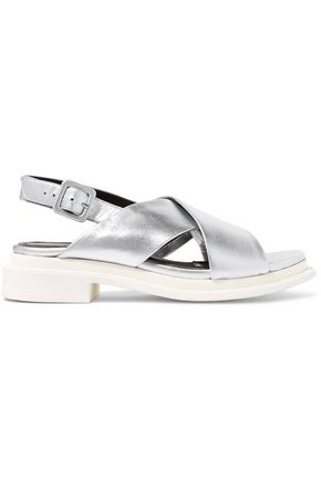 ROBERT CLERGERIE Caliente metallic leather sandals