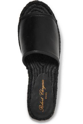 ROBERT CLERGERIE Leather esapdrilles