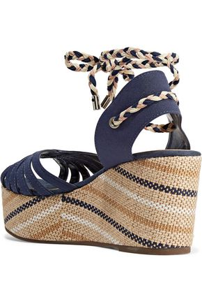 SCHUTZ Karlan twill wedge sandals