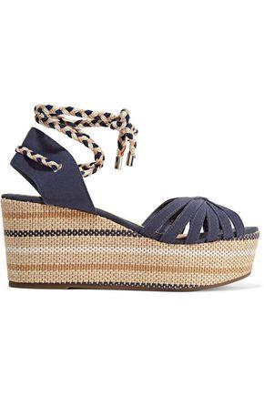 SCHUTZ Karlan twill wedge sandals