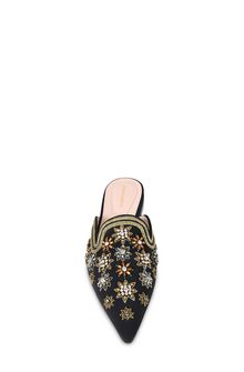ALBERTA FERRETTI Mia Mules with gold embroidery Mia Mule Woman d
