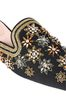 ALBERTA FERRETTI Mia Mules with gold embroidery Mia Mule Woman e