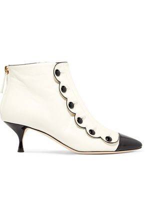 MOSCHINO Buttoned leather ankle boots